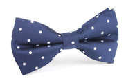 OTAA Navy Blue with White Polka Dots Bow Tie