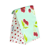 Ben Elke Lunch Bag - Green Mint Cherries