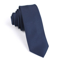 OTAA Navy Blue Skinny Tie