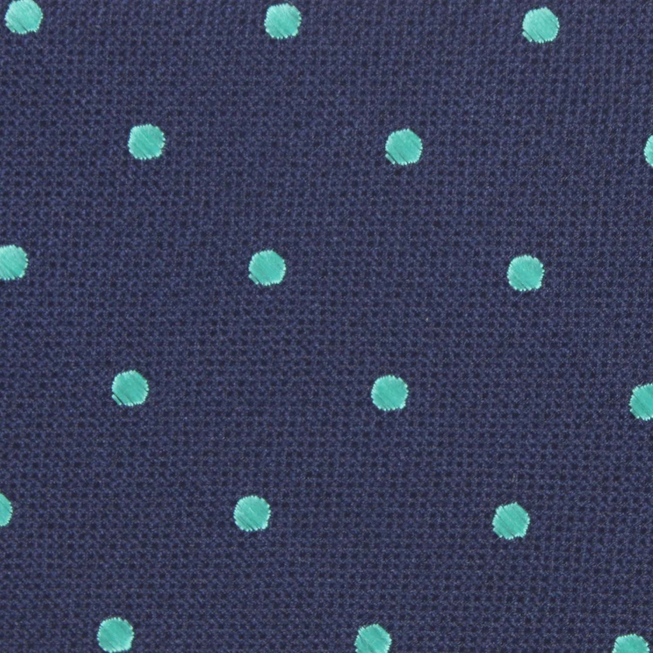 Otaa Navy Blue With Mint Green Polka Dots Skinny Tie Muscrats