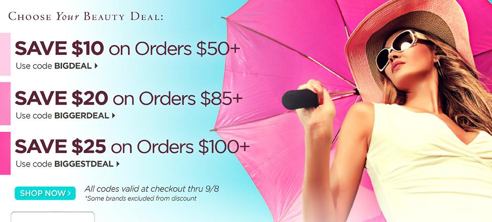 Beautystoredepot: $25 Off Sale...