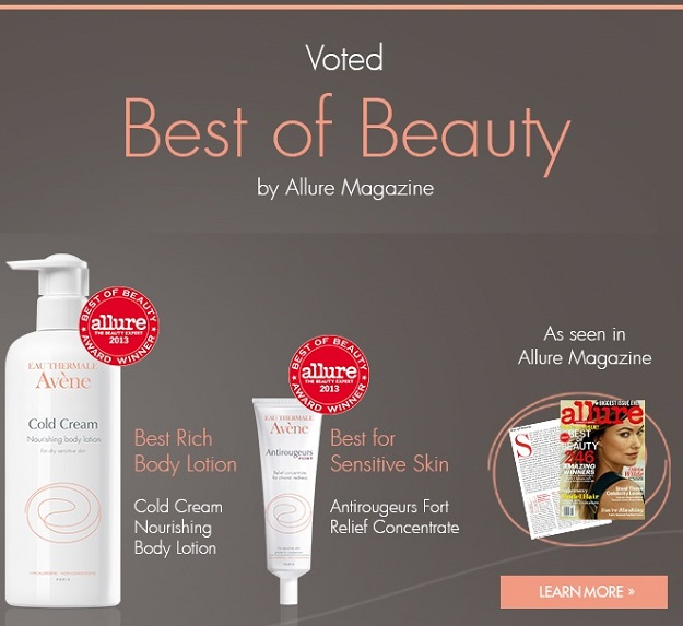 Avene Allure 2013 Best of Beauty Award Winner