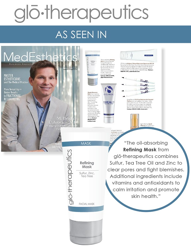 glotherapeutics Refining Mask Featured in Medesthetics Magazine
