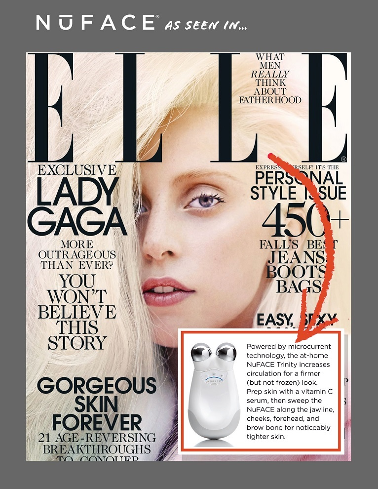 NuFACE Trinity Featured in Elle Magazine