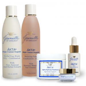 AKTA Skin Care Kit Combination to Oily 5 piece kit - beautystoredepot.com
