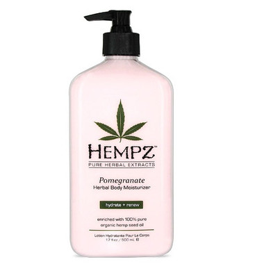 Hempz Pomegranate Herbal Body Moisturizer 17 oz - beautystoredepot.com