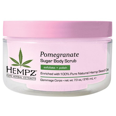 Hempz Pomegranate Sugar Body Scrub 7.3 oz - beautystoredepot.com