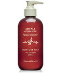 Simply Organic Moisture Rich Hair & Scalp Rinse 8.5 oz