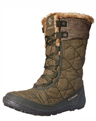 Columbia Women's Minx Mid II OH Tweed Cold Weather Boot #1641001261 Umber-British