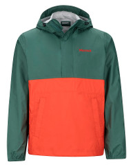 Marmot PreCip Anorak #43860 Mallard Green/Mars Orange