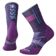 Smartwool Women's PhD Outdoor Medium Pattern Crew Socks - Mountain Purple