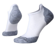 Smartwool Women's PhD Run Light Elite Micro Socks - White/Light Gray