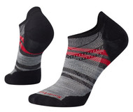 Smartwool Men's PhD Run Light Elite Pattern Micro Socks - Charcoal