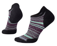 Smartwool Women's PhD Run Light Elite Striped Micro Socks - Black