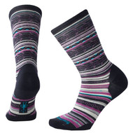 Smartwool Women's Ethno Graphic Crew Socks #SW0SM627108 Deep Navy Heather