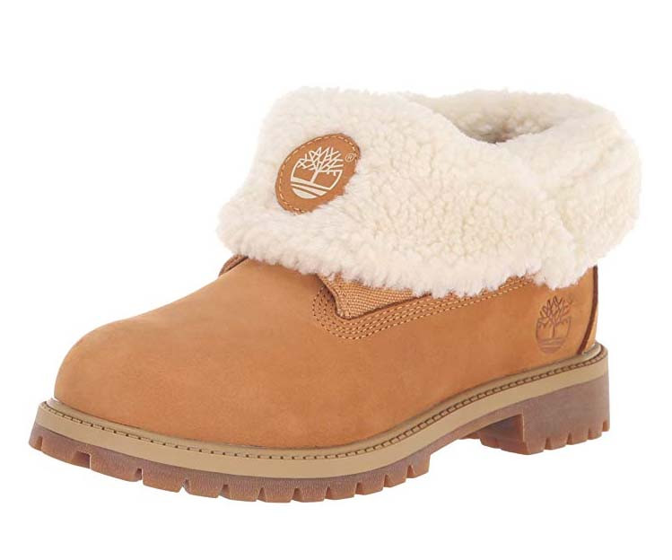 Timberland Kids Icon Collection Roll-top with Fleece Fashion Boot