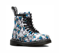 Dr. Martens Infant White Adventure Time Brooklee Boots #16903101 Finn Print