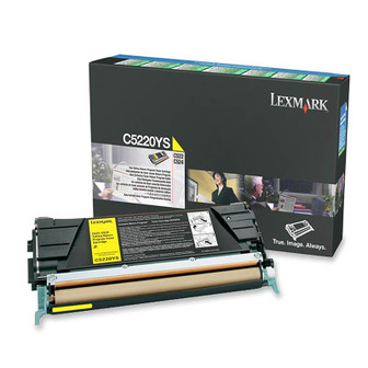 OEM Lexmark C522, C524, C530, C532 Yellow Toner Cartridge - C5220YS