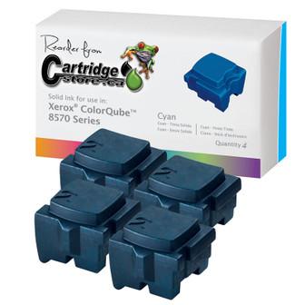 Xerox ColorQube 8570 Solid Ink Sticks Cyan 108R00926 Bulk Pack (4 Pack)
