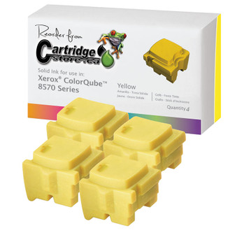 Xerox ColorQube 8570 Solid Ink Sticks Yellow 108R00928 Bulk Pack (4 Pack)