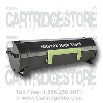 High Yield Lexmark MX610X Remanufactured Toner Cartridge