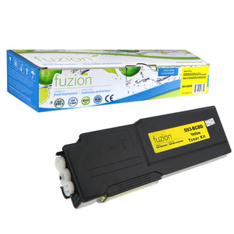 Fuzion - Dell 593-BCBD Yellow Toner Cartridge
