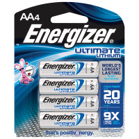 Energizer Ultimate Lithium AA Batteries 4-pack