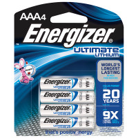 Energizer Ultimate Lithium AAA Batteries 4-pack