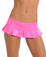 Hot Pink Pleated Mini Skirt with Bow