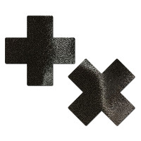 Everyday Reusable: Liquid Black Cross Reusable Nipple Pasties by Pastease®