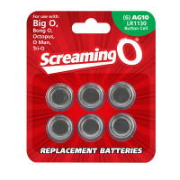 AG10 / LR1130 Button Cell Batteries - 6pk