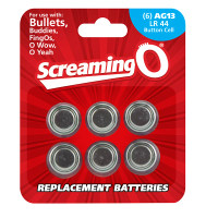 AG13 / LR44 Button Cell Batteries - 6pk
