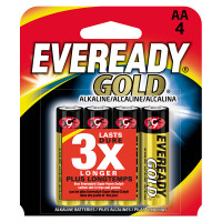 Eveready Gold Batteries AA 4-pack