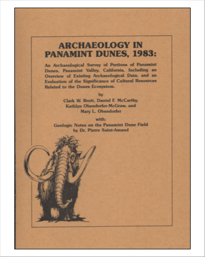 Archaeology in Panamint Dunes