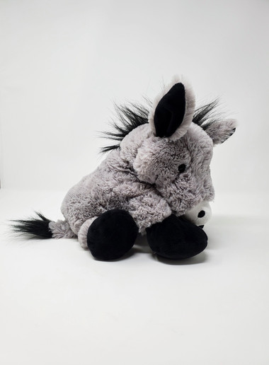 Donkey is 11 inches long  Surface washable  Recommended for ages 3 and above