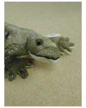 Lizard is 12 inches long  Surface washable  Recommended for ages 3 and above