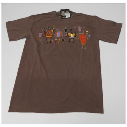 Anasazi crewneck tee is 100% pre-shrunk cotton. Short sleeve Color is cocoa