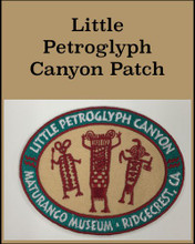 "This Little Petroglyph Canyon patch is approx. 3""x2 ¼"", embroidered iron on or sew on patch."
