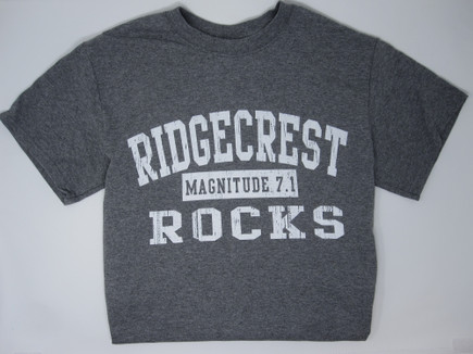 Ridgecrest Rocks T-shirt Grey