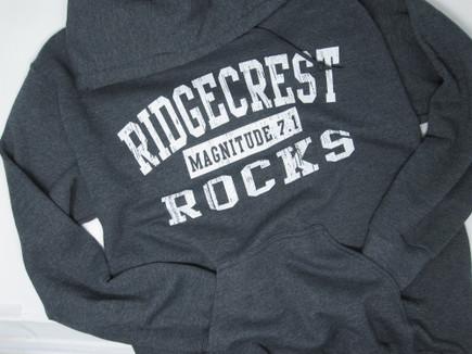 Ridgecrest Rocks hoodie  Graphite