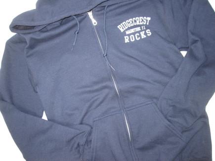 Ridgecrest Rocks zipper hoodie
