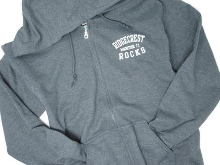 Rodgecrest Rocks zipper hoodie graphite