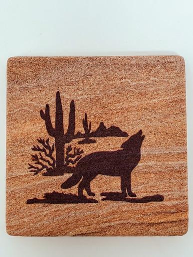 Desert Wolf Wonderstone Coaster