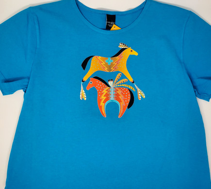 Spirited Horses by Sabaku short sleeve