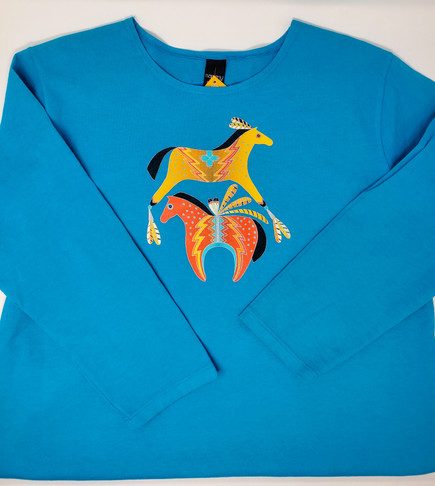 Spirited Horses by Sabaku Long Sleeve