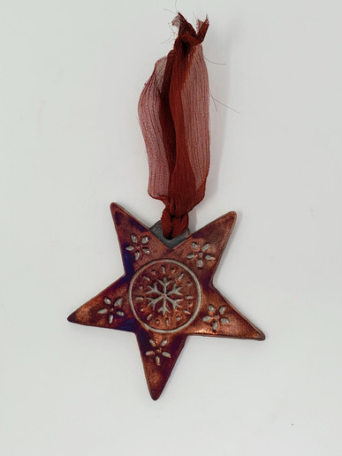 Raku Star ornament