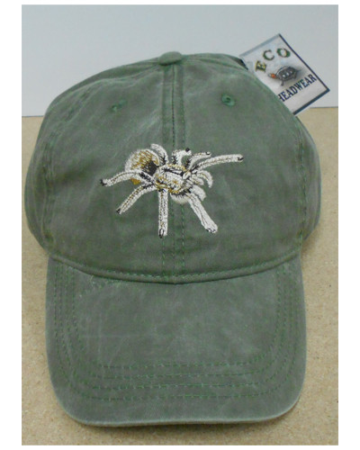 Artist Tell Hicks creates each our embroidered cap designs. He has seen and photographed many of these animal and plants in the wild. Each cap comes with an interpretive tag describing their habitat/range and an interesting fact as well as Common and Latin Names.  Green Canvas and  adjustable.  Name drop on the back of the hat.  Maturango Museum imprinted on back.  Adjustable. One Size Fits All.  100% Cotton  Hand wash. Line dry.