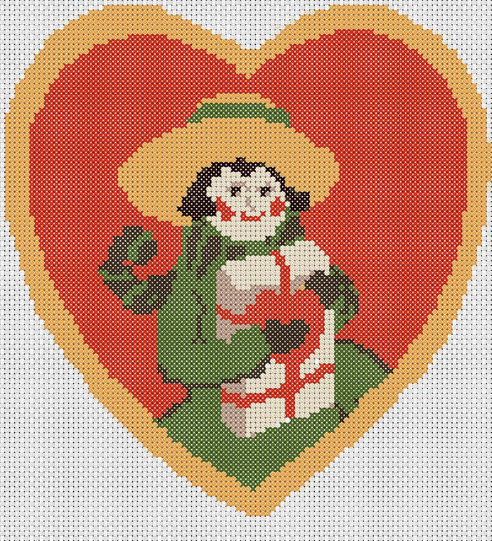Vintage Valentine Free Cross Stitch Pattern