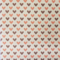 Red & Brown Hearts  - Patterned Cross Stitch Fabric