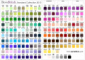 Aida OR Evenweave OR Linen Fabric Color Chart